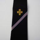 Cravate personnalisée (noire + rayures et logo sous le nœud) , membres association anciens combattants
