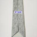 cravate polyester (gris clair) et étiquette passe pan personnalisées, force de vente entreprise