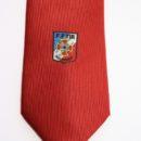 cravate polyester personnalisée, logo tissé, féderation sportive