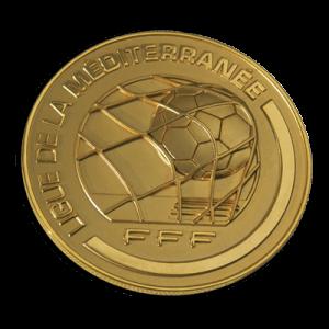 Médaille ronde en métal (fédération sportive)