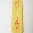 Cravate personnalisée (fon jaune clé de sol et notes de musique rouges , membres union musicale