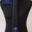 Cravate personnalisée (impression en base du logo sur un fond marine foncé), officiels fédération sportive