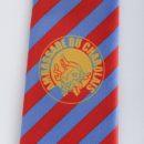Cravate polyester imprimée bleu jaune rouge), membres confrérie