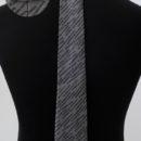 Cravate soie (grise et noire) et etiquette passe pan personnalisées, membres académie,