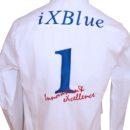 chemise coton-lycra, broderie dos (force de vente salon)
