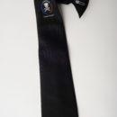 cravate à clip personnalisée, noire + logo sous le noeud, membres amicale anciens sous-mariniers