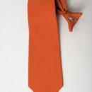 cravate à clip polyester, rouge uni