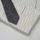 Coordonné cravate (tissée jacquard) et foulard en soie (imprimé, roulotté main), membres académie des technologies