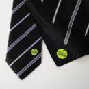 Cravate et foulard personnalisés coordonnés, personnel banque