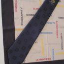 Cravate et foulard polyester, coordonné, uniforme élèves lycée
