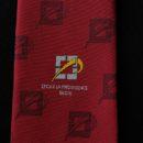 cravate bordeaux, logo lycée tissée jacquard, accessoire uniforme lycéens