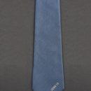 Cravate en soie personnalisée, bleu et or, membres club de voile