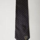 Cravate en soie personnalisée avec un logo en base, equipe rugby pro D2