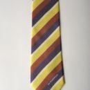 Cravate personnalisée en soie, avec rayures club, membres club de rugby