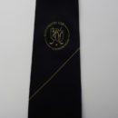 Cravate en soie personnalisée avec un logo sous le nœud, membres club de golf