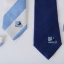 cravates en soie personnalisées bicolores, membres club de rugby