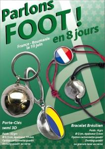 Porte-clés et bracelet brésilien publicitaires EURO 2016