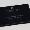 essuie lunette publicitaire microfibre noir + impression grise (hôtel)