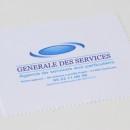 essuie verres blanc, impression quadri du logo (société de services)