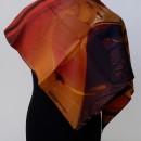 foulard en soie imprimé, rouloté main (cadeau d'affaires)