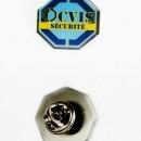 pin's métal, émaillé 3 couleurs (agence de sécurité)