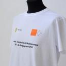 tee shirt blanc, floqué cœur et devant (étudiant iut)