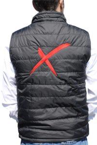 bodywarmer publicitaire avec marquage logo au dos