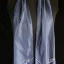 echarpe polyester bleu marine personnalisée remise diplôme etudiant