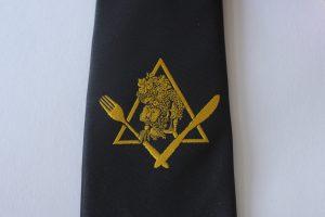Tissage jacquard sur cravate personnalisée noire