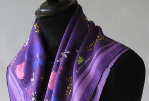 Impression numérique sur foulard en soie