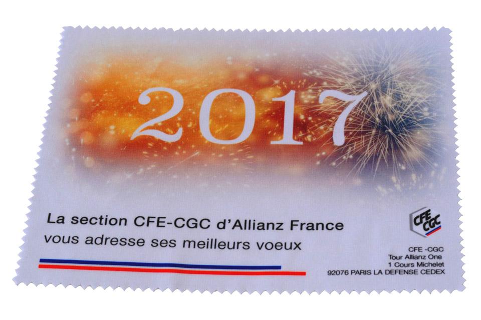 Essuie lunettes Cartes de Vœux 2020 Personnalisées